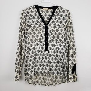 Anthropolgie Vanessa Virginia Owl Print Blouse